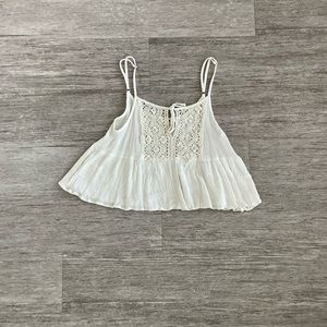 White Lace Crop Top from Pacsun
